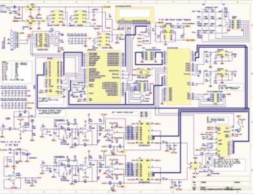 DIY Dual Channels Oscilloscope Schematic