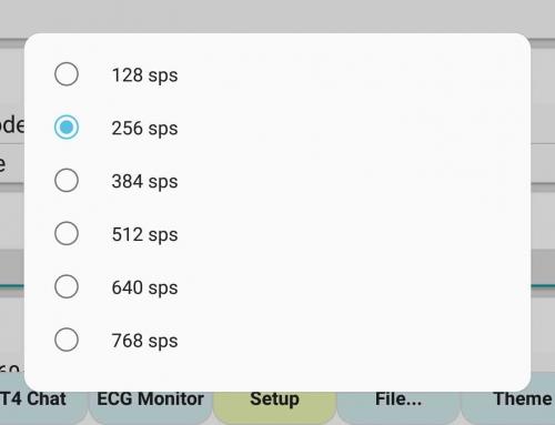 ecgMonitor – Setup Baud Rate