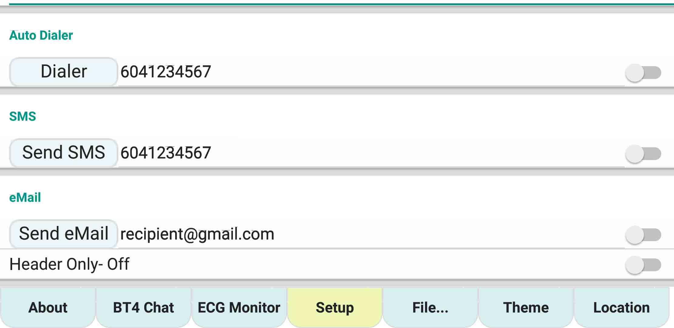 ecgMonitor-Setting-Dialer-SMS-email