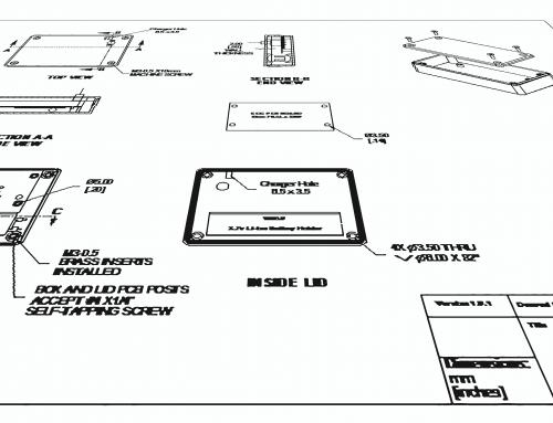 ECG Case AUTOCAD Drawing Prototype