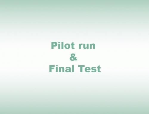 Pilot run & Final Test